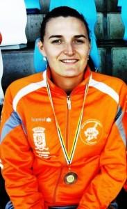 Adriana bronce en Hptatlon, en el XXVI Campeonato Regional de Canarias el 21-21 Julio de 2012 -Ciudad Deportiva de Las Palmas.