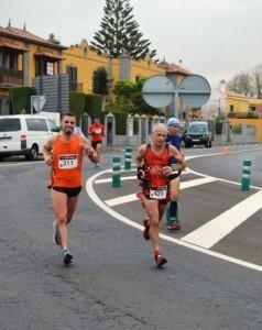 Domingo Curbelo Sanz-García - Dorsal 429 - En la Median Maratón de Tacoronte, 3 Clasificado en Veteranos D.