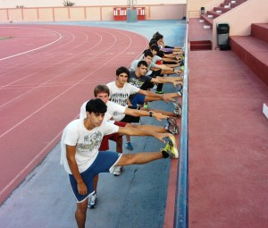 Entrenos cadetes yJuveniles Club Almogrote