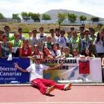 XXXV Juego Escolares de Atletismo 27-28 Mayo de 2017 en Arona- Selecciónes Gomera y el Hierro