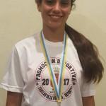XXXV Juegos Escolares Atletismo 27-28 Mayo de 2017 en Arona  Oro Campeona de Canarias, triple salto Lucia Curbelo Barroso-