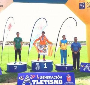 Campeonato Canarias Cadetes Juveniles y por clubes 12 y 13 Mayo 2018 . Lucy Campeona Jabalina 34.88 m.