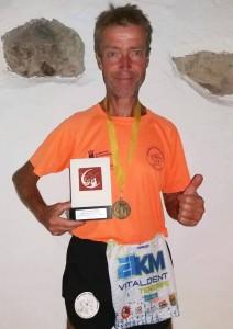 Ralf- Raul 2º Clasificado en la media maraton nocturna puerto de la Cruz 13-1-0-2018..