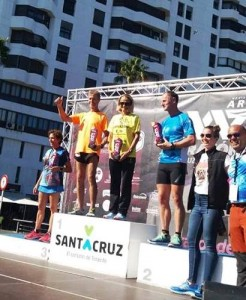 Ralf Raul Zinke 1º Clasificado M55 en la Media Maraton de Santa Cruz Tenerife 11-11-2018.-